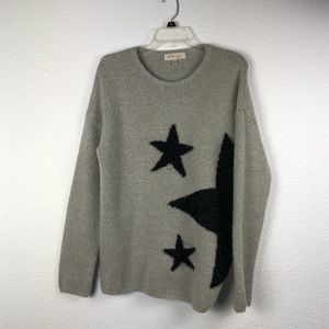 Philosophy Gray Star Design Sweater
